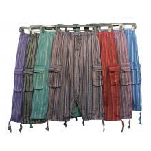 Stripe Cotton 3/4 Pant