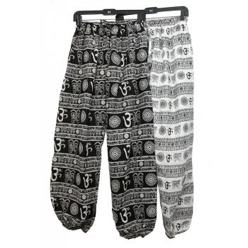 Cotton  Om Print Balloon Pant