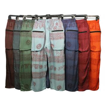 Om Print Pocket Pant
