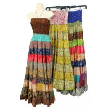 Recycle Silk 9 Line Dress/Skirt