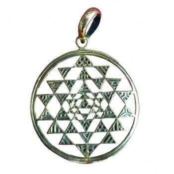 Brass Sriyantra Pendent