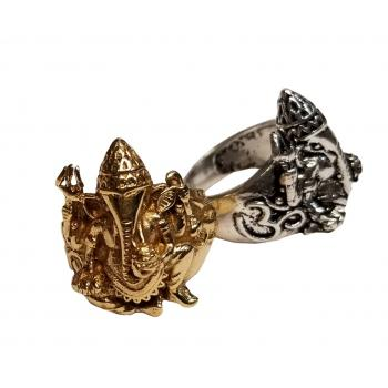 Brass Ganesh Ring