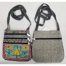 Cotton Emb. 3 Zipper  PP Bag