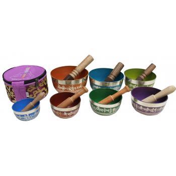 Nesting Chakra Singing Bowl Set