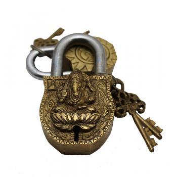 Brass Ganesh Lock