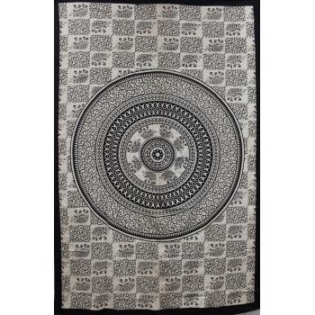 Tapestry (Beige Elephant Mandala)
