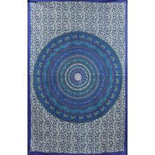 Tapestry (Blue Elephant Mandala)