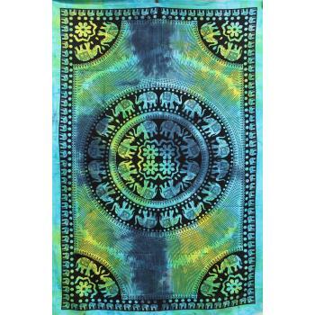 Tapestry (Tie Dye Elephant Mandala)