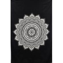 Tapestry (Black  Ombre Mandala)