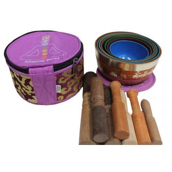 Nesting Chakra Singing Bowl Set