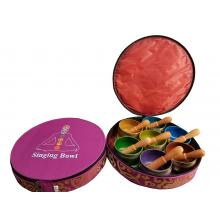 "3""  Chakra Singing Bowl Set Round case"